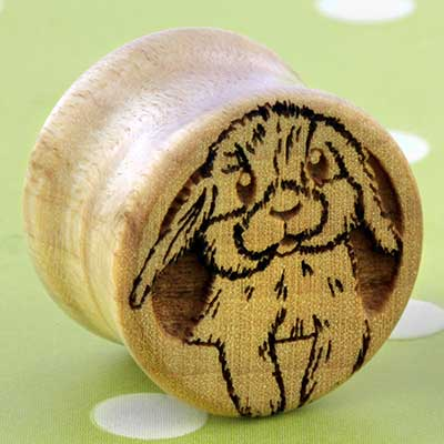 Curly maple Bunny plugs