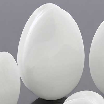 White jade teardrop plugs