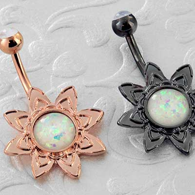 Blooming opal navel