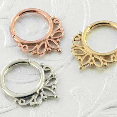 Acacia septum seamless ring