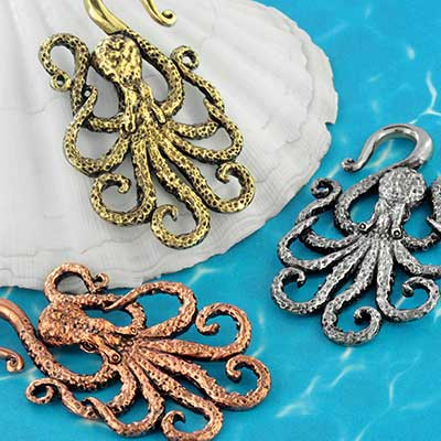 Textured octopus weights
