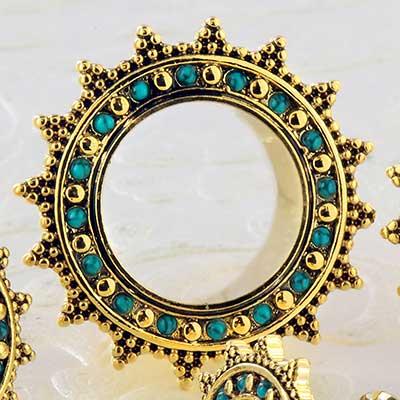 Vintage Turquoise Sun Eyelet