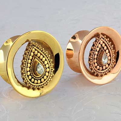 Gold plated Diety plugs