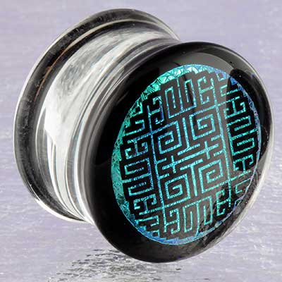 Pyrex Glass Geometric Maze Plugs