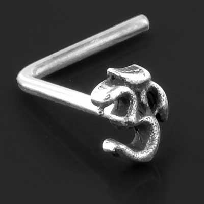 Silver Ohm Nosescrew