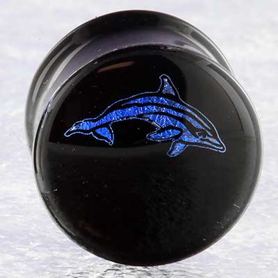 Pyrex Glass Dolphin Foil Plugs