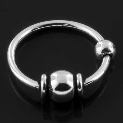 Embellished ball fixed bead ring