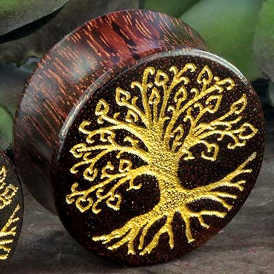 Dark Tamarind Golden Tree Plugs