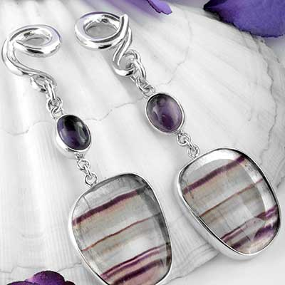 Silver and Fluorite Weights