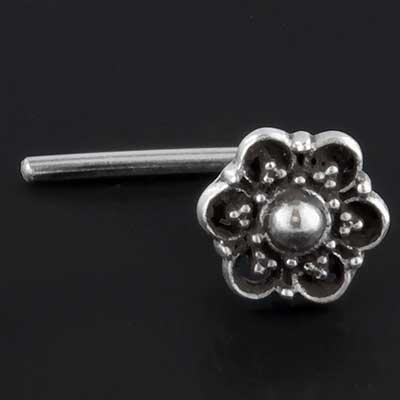 Silver Mandala nosescrew