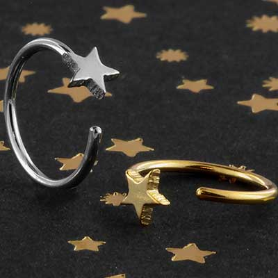 Star Open Nose Hoop