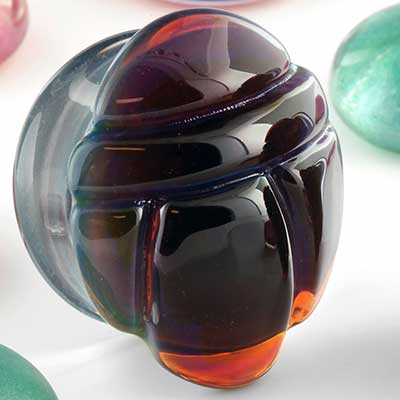 Pyrex Glass Scarab Plugs (Alien)