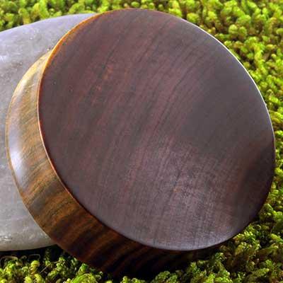 Lignum vitae wood plugs