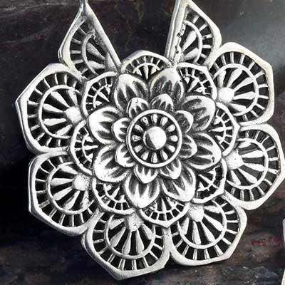 Floral mandala earrings