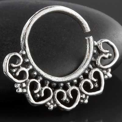Silver Wild Heart Seamless Ring