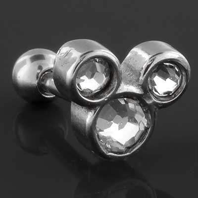 Trio gem barbell