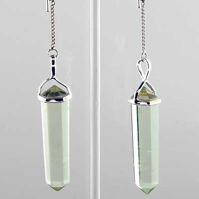 Quartz cylinder earrings