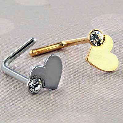 Heart Sparkle Nosescrew