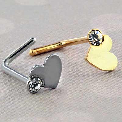 Heart sparkle nosescrew