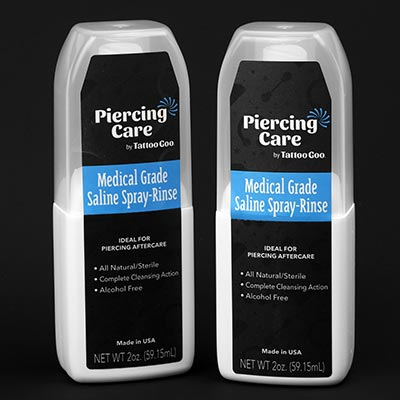 Blue Wave Saline Piercing Cleanser