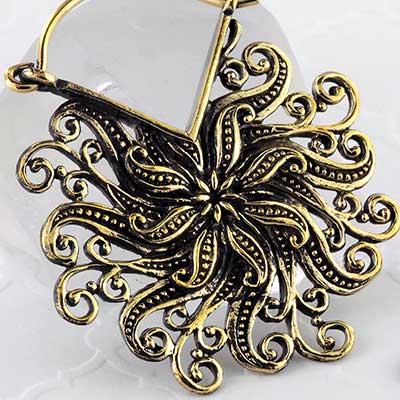 Brass sundance earrings