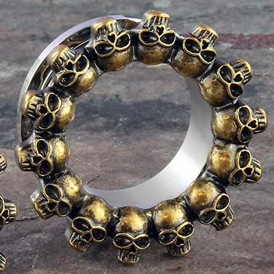 Antique Skull eyelet