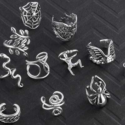 Assorted Silver Ear Cuffs