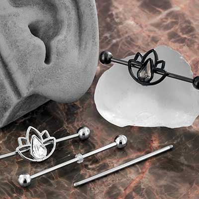 Lotus gem industrial barbell set