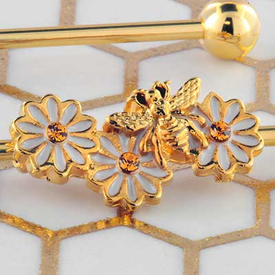 Daisy and Bee Industrial Barbell Set