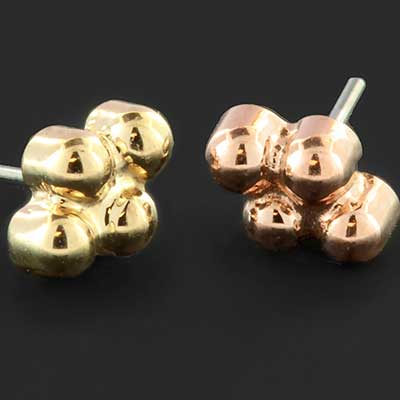 PRE-ORDER 18k Four Bead Cluster End