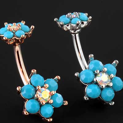 Spring flower sparkle navel