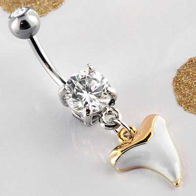 Megalodon Tooth Dangle Navel