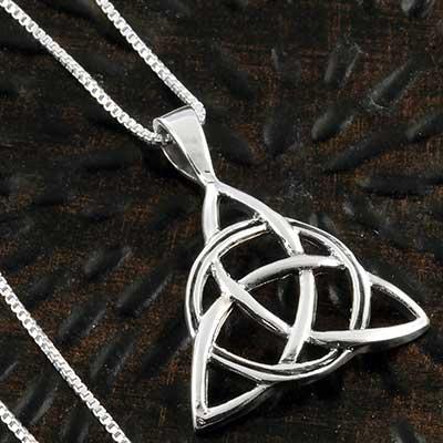 Silver Celtic Triquetra necklace