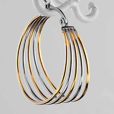 Duo Tone Steel Hoops
