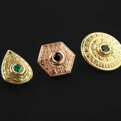 14k Gold Relic Threaded End