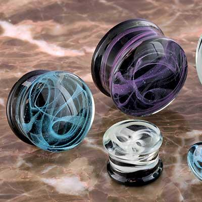 Glass Swirl Plugs