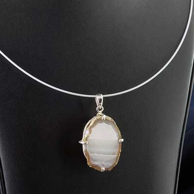 Geode druzy necklace