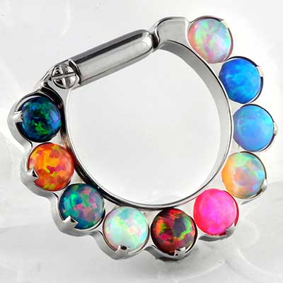 Titanium 3mm rainbow opal odyssey clicker