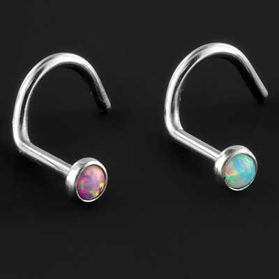 Synthetic Opal Nose Screw