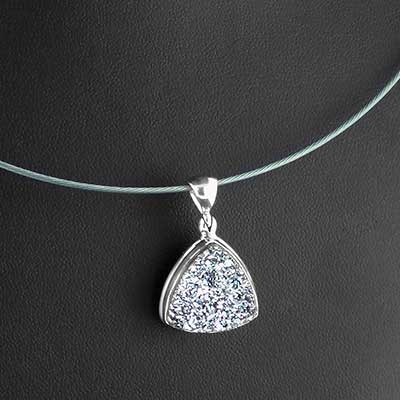 Druzy and silver necklace