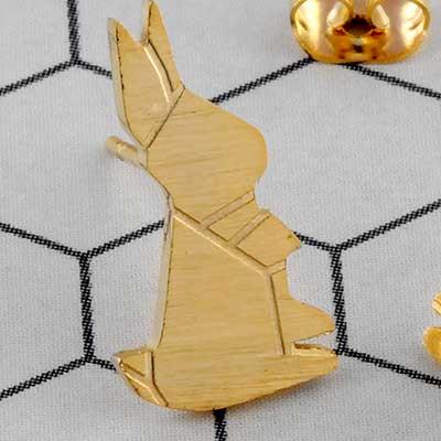 Geometric Rabbit Earrings