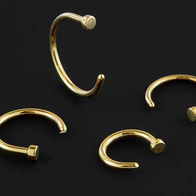 Gold Colored Nose Hoop