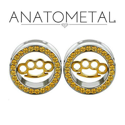 PRE-ORDER Steel Gemmed Eyelet with Brass Knuckle Inlay