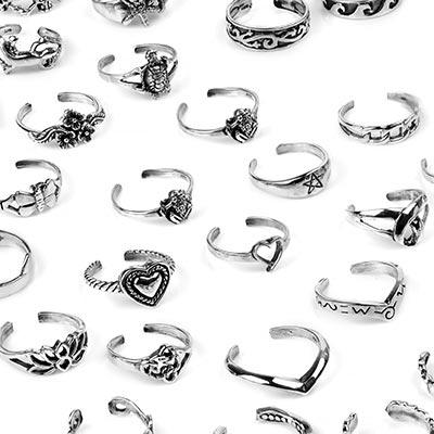 Silver toe ring designs