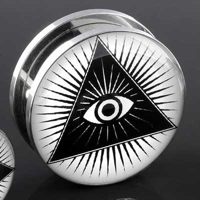Steel threaded third eye plug