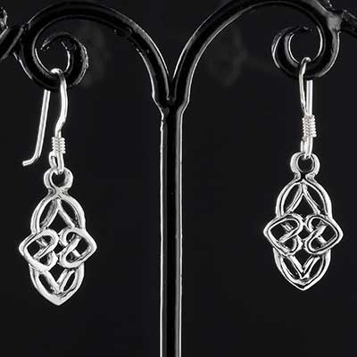 Silver everlasting celtic knot earrings