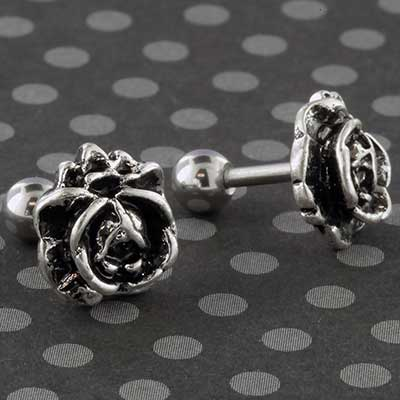 Steel rose barbell