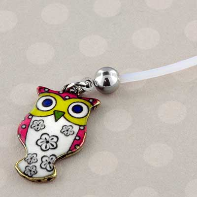 Ptfe Free Size Flower Owl Pregnancy Navel
