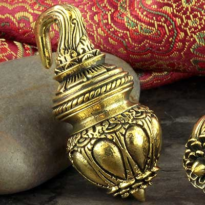 Brass lotus temple weights