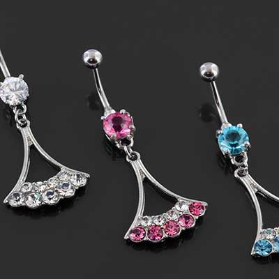 Gemmed Chandelier Dangle Navel